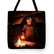 Old-fashioned Blacksmith Heating Iron Tote Bag