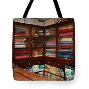 Old-fashioned Fabric Shop Tote Bag