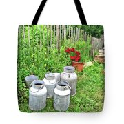 Old Fashioned Milk Churns Tote Bag