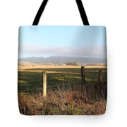 Old Fence And Landscape Along Sir Francis Drake Boulevard At Point Reyes California . 7d9965 Tote Bag