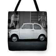 Old Fiat On The Streets Of Florence Tote Bag