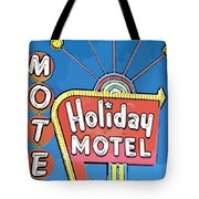 Old Fifties Vegas Hotel Sign Painting Tote Bag