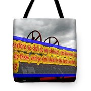 Old Fire Truck With Text 3 Tote Bag