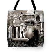 Old Firetruck Tote Bag