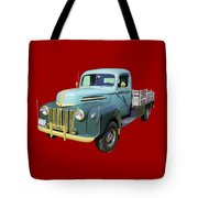 Old Flat Bed Ford Work Truck Tote Bag
