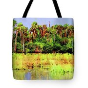 Old Florida Loop Palms Tote Bag