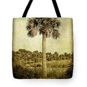 Old Florida Palm Tote Bag