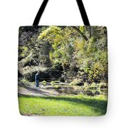 Old Fly Fisherman Tote Bag
