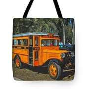 Old Ford School Bus No. 32 Tote Bag