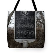 Old Fort Mason Historical Marker Tote Bag