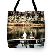 Old Friends Fishing Tote Bag