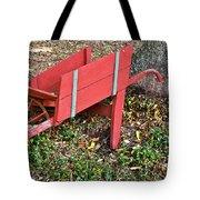 Old Garden Wheel Barrow Tote Bag