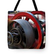 Old Gas Engine With Digital Effects Tote Bag