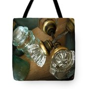 Old Glass Tote Bag by Delight Worthyn