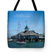 Old Glory Boat Parade Tote Bag