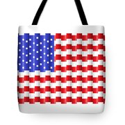 Pixilated Old Glory Tote Bag