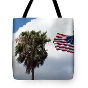 Old Glory Monument At Titusville Florida Tote Bag