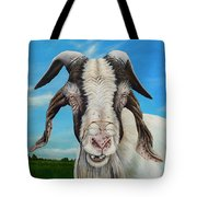 Old Goat - Painting By Cindy Chinn Tote Bag