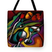 Wine And Flowers Tote Bag