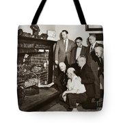 Old Grate That First Burned Anthracite Coal Successfully In The Old Fell House Wilkes Barre Pa Tote Bag