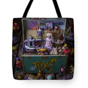 Old Green Toy Box Tote Bag