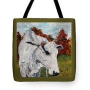 Old Grey Cow Tote Bag