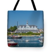 Old Harbor View Tote Bag