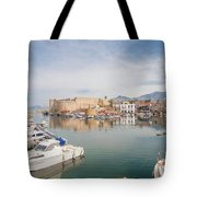 Old Harbour Of  Kyrenia, In Cyprus Tote Bag
