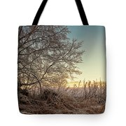 Old Harvester By The Birch Tree Tote Bag
