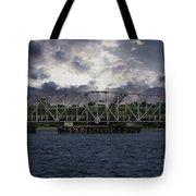 Old Highway 41 Swing Bridge Over The Wando River In Charleston Sc Tote Bag