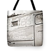 Old Hippie Peace Van Tote Bag
