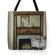 Old Homestead Fireplace  Tote Bag