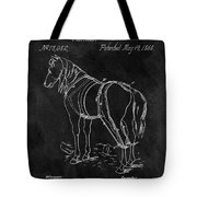 Old Horse Harness Patent  Tote Bag