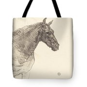 Old Horse (le Vieux Cheval) Tote Bag