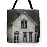 Old House And Dandelions Tote Bag