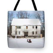 Old House In The Snow Springfield New Hampshire Tote Bag