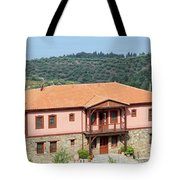 old house Sithonia Greece summer vacation scene Tote Bag