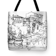 Old Houses And Boats Tote Bag