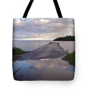 Old Hovland Dock After The Storm Tote Bag