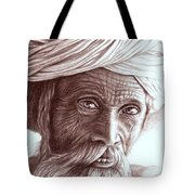 Old Indian Man Tote Bag
