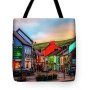 Old Irish Town The Dingle Peninsula At Sunset Tote Bag