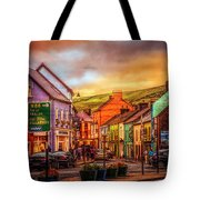 Old Irish Town The Dingle Peninsula Late Sunset Tote Bag