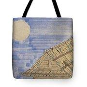 Old Japan At Nightfall Tote Bag