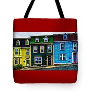 Old Jellybean Row Houses Tote Bag