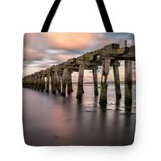 Old Jetty Near Castlerock Tote Bag
