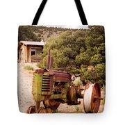 Old John Deer Tractor Tote Bag