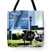 Old Kauai Village Clock Tower Tote Bag