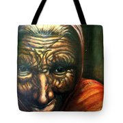 Old Lady - Map Of Life Tote Bag