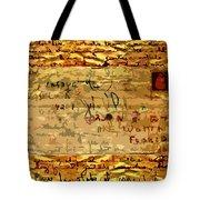 Old Letter Tote Bag