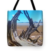 Old Log On Auckland Beach Tote Bag